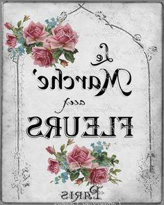 fleur Papel Vintage, Decoupage Vintage, Decoupage Paper, Vintage Paper, Wax Paper Transfers, French Typography, Etiquette Vintage, Foto Transfer, French Flowers