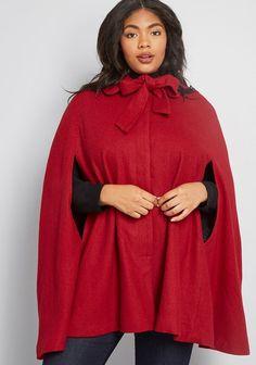 Wool Cape, Cape Coat, Cape Dress, Plus Size Fashion Dresses, Plus Size Outfits, Cute Dresses, Vintage Dresses, Women's Dresses, Marianne James
