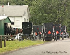 A Church meeting...Amish families focus their energies on the discipleship of their children in the context of a local church district of about 25-35 families. This enables them to worship, work, visit & live together in simplicity.