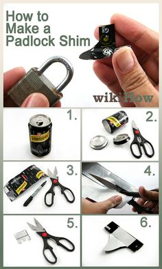 How to Make a Padlock Shim -- How to open the locks you lost the key to.