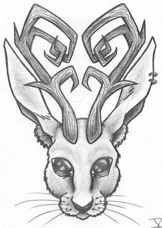 Jackalope Drawing