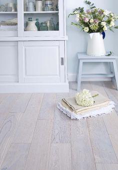 White wash floorboards
