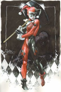 Original Comic Art titled Harley Quinn - Philip Tan, located in Chris's Commissions and misc. Comic Book Characters, Comic Character, Comic Books Art, Im Batman, Spiderman, Gotham Batman, Dc Comics, Joker Y Harley Quinn, Nananana Batman