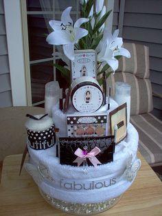 birthday towel cake