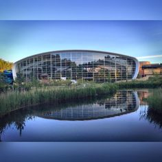 """Neil Perry on Twitter: """"Up at 5am to shoot the Woburn Forest #centerparcs swimming centre. Amazing building and lovely sunrise #architecture http://t.co/KlvLYBiyg6"""""""