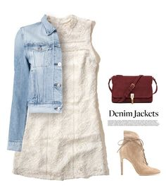 """""""Jean Jacket"""" by tawnee-tnt ❤ liked on Polyvore featuring Hollister Co., 3x1, Gianvito Rossi, Elizabeth and James and jeanjackets"""