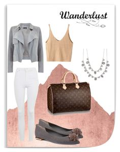 """""""lv speedy 35 monogram - vacation look"""" by priya-k on Polyvore featuring WALL, Mint Velvet, WithChic, Topshop, Givenchy and Ted Baker"""