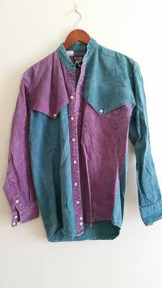 Vintage purple Denim button up 5USNAaRy