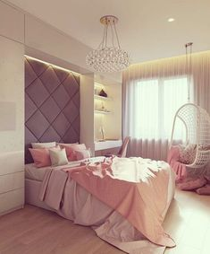 Small Bedroom Ideas Make Your Home. Browse bedroom decorating ideas and layo… Small Bedroom Ideas Make Your Home. Browse bedroom decorating ideas and layouts. Discover bedroom ideas and design inspiration. Gray Bedroom, Home Bedroom, Modern Bedroom, Bedroom Decor, Feminine Bedroom, Bedroom Sets, Girl Bedroom Designs, Design Bedroom, Dream Rooms