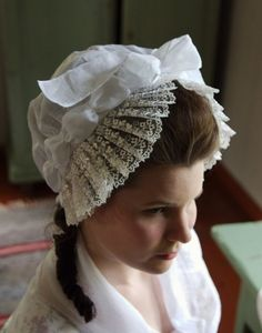 Reproduction of a 1770s dormeuse cap - Definitely something I could see my ladies wearing :)