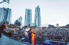 Brendon Urie / Panic! at the Disco - Summer Tour '16 Miami Florida -- rainbow flag #WeAreOrlando