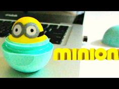 DIY MINION EOS | How to Make EOS Lip Balm out of Candy - YouTube