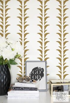 Yellow Palm Self Adhesive Wallpaper, Palm Removable Wallpaper, Palm Leaf Wall Mural, Leaf Wallpaper by ThinkNoirWallpaper on Etsy https://www.etsy.com/listing/467675527/yellow-palm-self-adhesive-wallpaper-palm