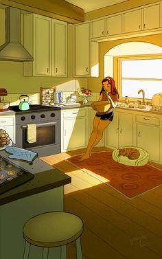 In her charming series of illustrations, painter, illustrator, and animator Yaoyao Ma Van As presents the everyday benefits of living alone. Art And Illustration, Illustrations Posters, Illustration Fashion, Photography Illustration, Watercolor Illustration, Cartoon Kunst, Cartoon Art, Art Sketches, Art Drawings