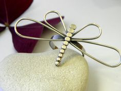 Dragonfly Ring in Sterling Silver by littleloveprints on Etsy
