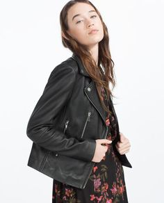 Image 2 of LEATHER JACKET from Zara