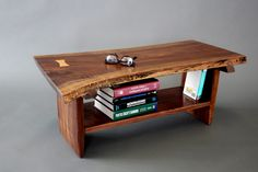 Petite Walnut Live Edge Slab Coffee Table, but with different legs