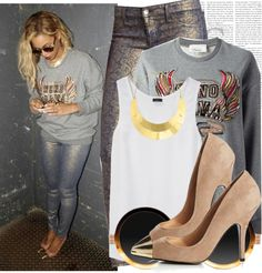 """""""Celebrity Style: Beyonce"""" by anntawfils on Polyvore"""