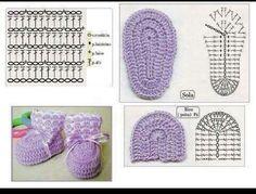 Amazing Picture of Baby Booties Crochet Pattern Booties Crochet, Crochet Baby Boots, Knit Baby Booties, Baby Girl Crochet, Crochet Slippers, Love Crochet, Crochet For Kids, Beautiful Crochet, Easy Crochet
