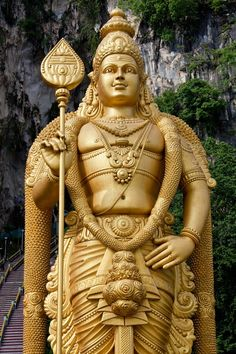 Statue of Murugan (Hindi God) by jan madsen Lord Shiva Family, Lord Murugan, Joker Wallpapers, Om Namah Shivaya, Spirit Science, Lord Vishnu, Actor Photo, God Pictures, Hinduism