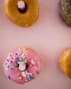 No rings were harmed in the making of this image. Only slight stickiness added.⠀ Donut walls are increasing in popularity and I have to say, I ain't even mad, especially when they are good donuts!⠀