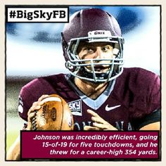 Sept. 16 - Montana's Jordan Johnson is your ROOT SPORTS #BigSkyFB Offensive Player of the Week. #GoGriz