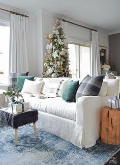 A Christmas Living Room Tour with ZDesign At Home - A Stroll Thru Life Christmas Tour