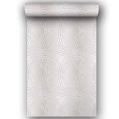 Papier peint vinyle expans sur papier paillette ligne argent larg m papier peint wc - Leroy merlin lens ...