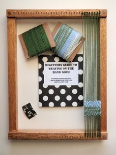 I'd love to receive this hand weaving loom!
