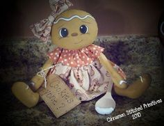 Cookies Anyone Gingerbread Doll Primitive Dollie