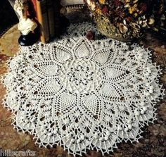 Probably the most beautiful pineapple doily ever...I made one in size 10 and it took forever.  :)