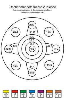 Rechen Mandalas für die 3. Klasse - Übungsaufgaben - Mathe ...