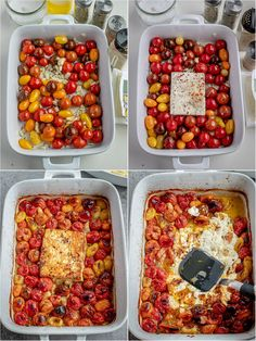 Roasted tomato pasta with feta! Your entire family will love this delicious pasta dish! Roasted Grape Tomatoes, Roasted Tomato Pasta, Cherry Tomato Pasta, Tomato Basil Pasta, Feta Pasta, Tomato Pasta Bake, Tomato Soup Recipes, Veggie Recipes, Cooking Recipes