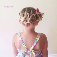 """I know I've posted this hairstyle a few months ago.  But this is one of our go to styles in the summer.  It stays in all day, and it's quick and easy!  zig zag ponies into a messy bun. "" Photo taken by @simplystranded on Instagram, pinned via the InstaPin iOS App! http://www.instapinapp.com (06/29/2015)"