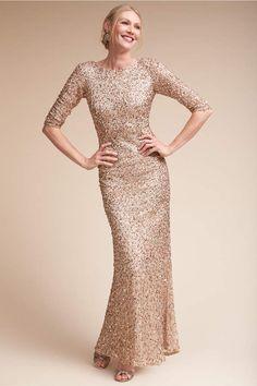 9b3e02d59e3 BHLDN Tirage Dress Champagne By Adrianna Papell gold sequin bridesmaid dress  sleeve bridesmaids dress