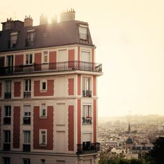 Paris Photograph, Home Decor - Satori in Paris - Montmartre at sunrise... ❤ liked on Polyvore