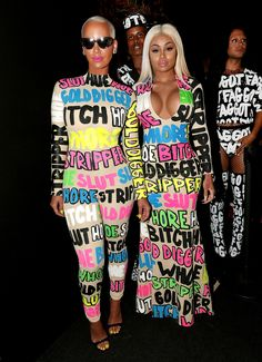 Amber Rose & Blac Chyna from 2015 MTV Video Music Awards Red Carpet Arrivals Looks like there's another friend squad at the awards show! Amber Rose, Black Chyna, Oufits Casual, Mtv Video Music Award, Music Awards, Mtv Videos, Weird Fashion, Bad Fashion, Fashion 2015