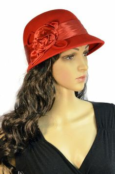 Pure Wool Cloche Women's Hat Red Satin Rosette with Matching Band SK Hat shop,http://www.amazon.com/dp/B00IB135YS/ref=cm_sw_r_pi_dp_UXK.sb1VZTC0SM2M