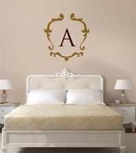 French monogram frame wall decal sticker