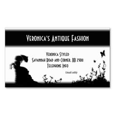 Victorian Lady White Business Card #zazzle