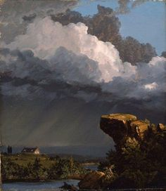 A Passing Storm: 1849 by Frederic Edwin Church (MFA, Boston) - American Renaissance