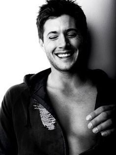 Happy Jensen Ackles is happy.