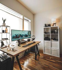 Office designs – Home Decor Interior Designs Home Office Setup, Desk Setup, Office Workspace, Room Setup, Office Decor, Gaming Setup, Office Interior Design, Office Interiors, Home Interior