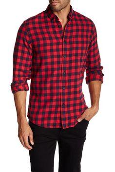 Image of 14th & Union Long Sleeve Regular Fit Flannel Shirt- Trevor Medium