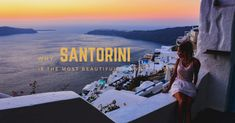 On this magical island, your eyes are filled with images of cliffs where white – blue houses are hanging over the sea and the most heavenly sunsets on earth take place. Blue Houses, Colorful Cocktails, Bars And Clubs, Santorini Island, Archaeological Site, Animal Party, Beautiful Islands, Great View, The Locals