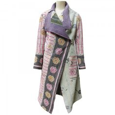 MAYER Peace Collection upcycled vintage Pakistan quilt and sari coat