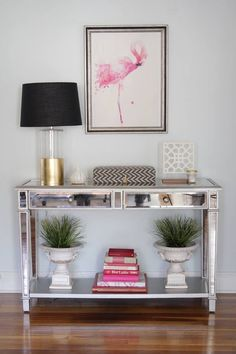 Perfect color, staging, love the gold dipped lamp
