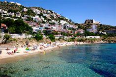 Playa Palangrers à Roses, Catalogne - Costa Brava (Espagne)