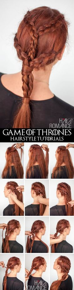 Khaleesi Braids Hairstyle Tutorial <3