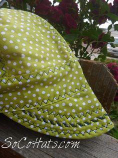 84695d8b44e Green Polka Dot Size 7 1 4 Ready to Ship Welding Cap